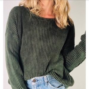Brandy Melville Olive Dark Green Sweater